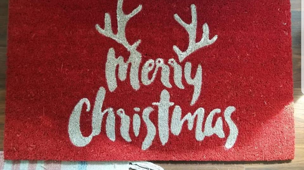 Merry Christmas Door Mat 17in x 29in