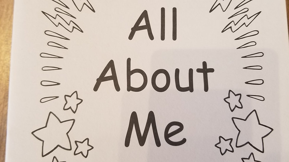 My Kindergarten Book All About Me