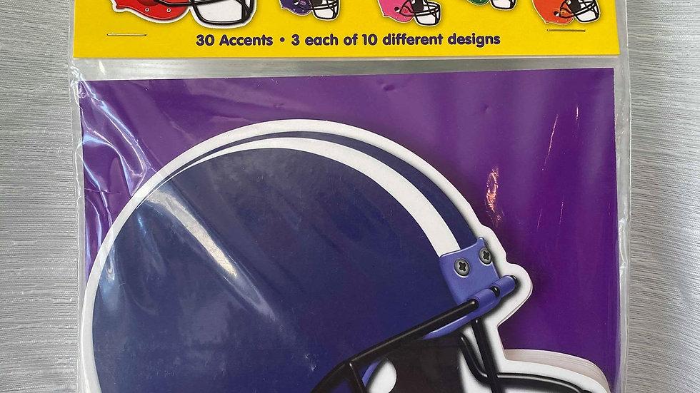 Football Helmet Cutouts