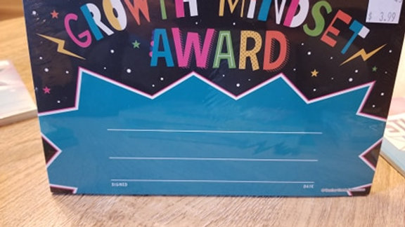 Growth Mindset Award