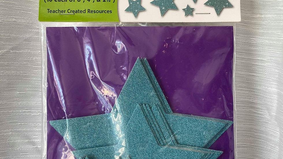 Glitter Star Cutouts