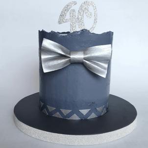 Elegant bowtie cake