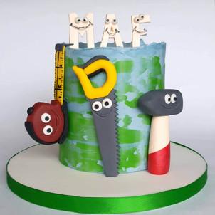 Personalised birthday cake sugar tools c