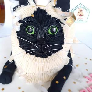 Sculpted animal cake personalised cat cake