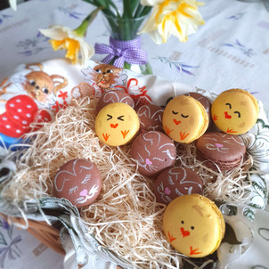 Easter macrons macaron chicks macaron bu