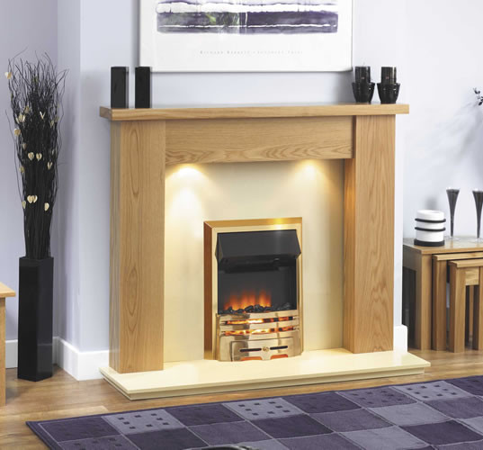 The Ashley with straight mantle
