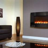 The Celsi Electriflame 930 Curved Black Glas