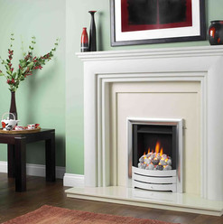 The Spirit Gas Fire with Profile Trim