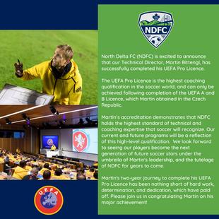 UEFA PRO Licence Announcement