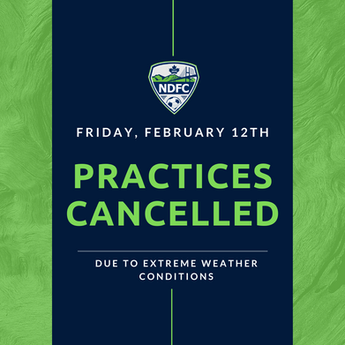 Practices Cancelled - Feb 12