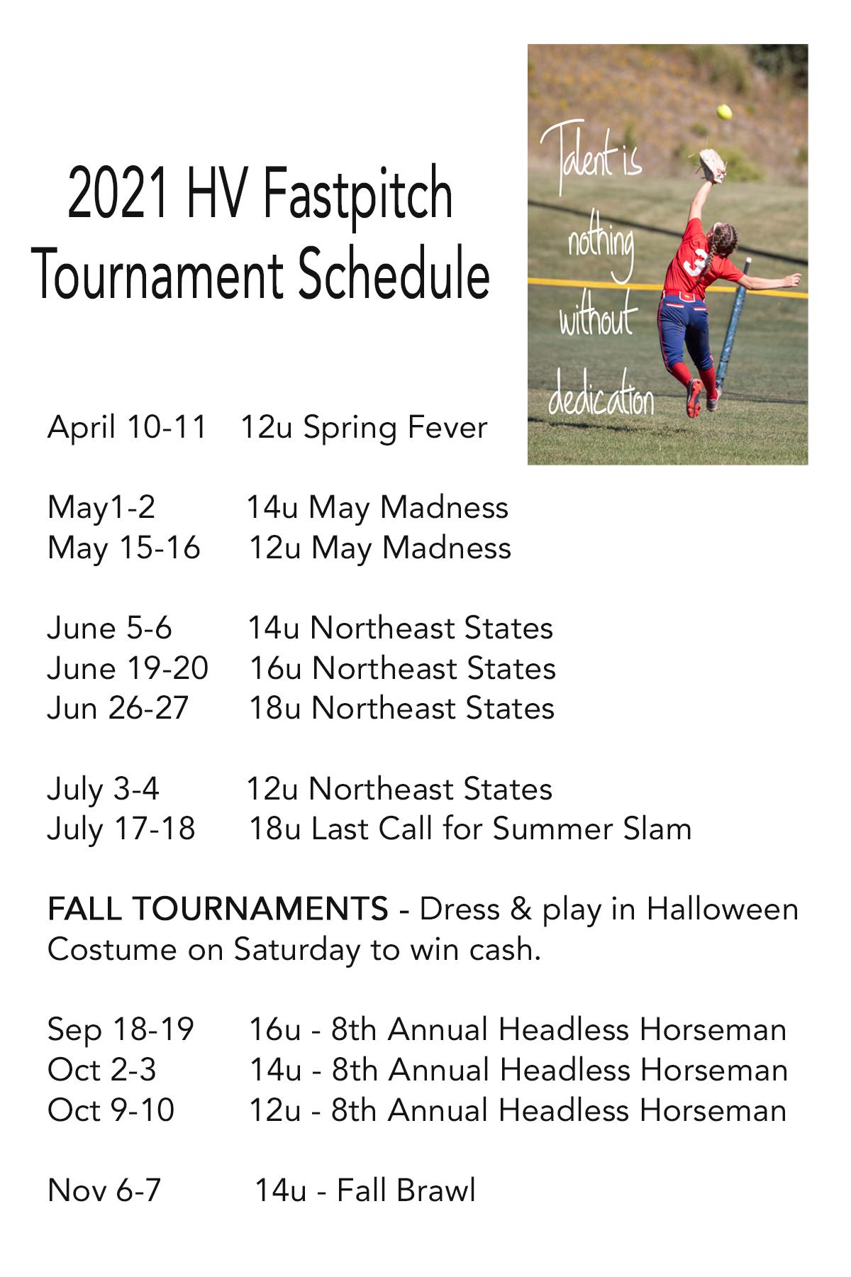 2021 Tournaments