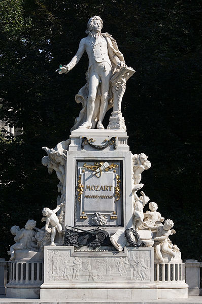 Mozart Monument in the Hofburg, Vienna, Austria