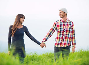 Young Loving Couple in Field - Couple photography in Dubai