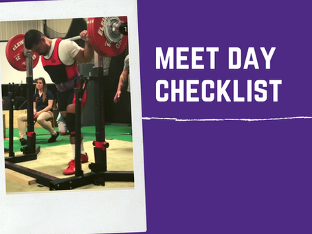 Meet Day Checklist