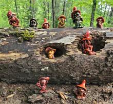 Log full of Little Moss People