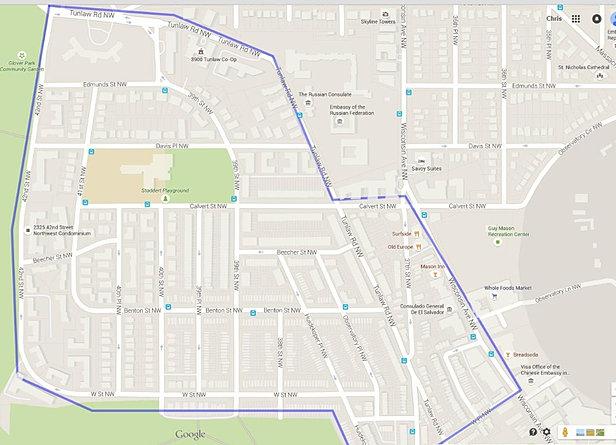 Glover Park maps