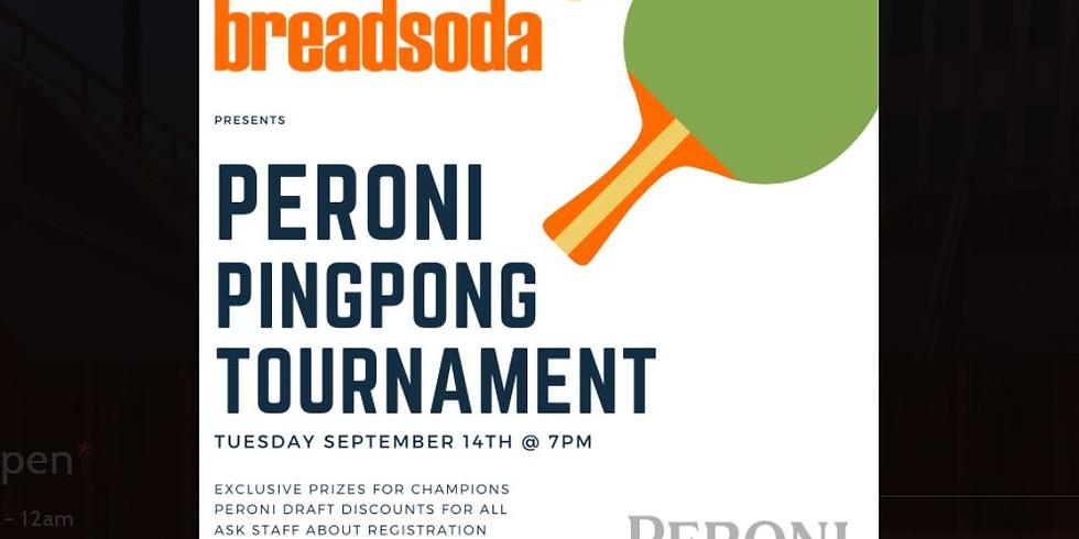 Peroni Ping Pong Tournament at Breadsoda