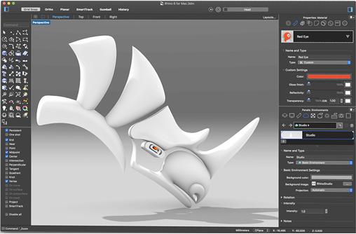 Modo Obsucro de Rhino 6 para Mac