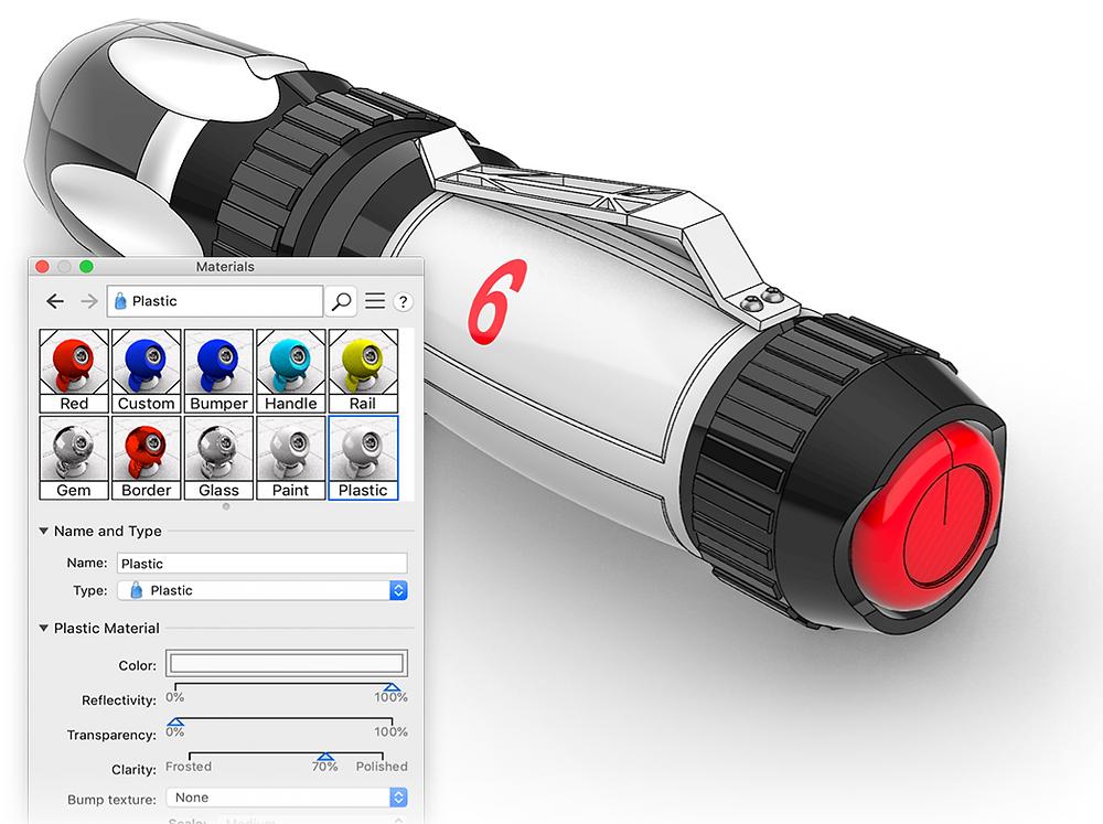 Nuevos Materiales y Renderizador en Rhino 6 Mac