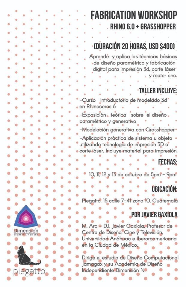 Taller de Modelado Paramétrico en Guatemala con Piegatto