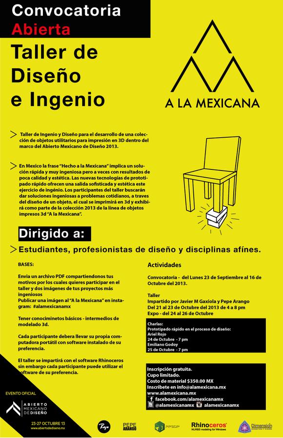 A la Mexicana - Diseño Vernaculo en el Abierto de Diseño