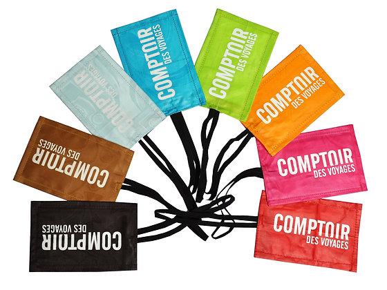 étiquette pour bagage personnalisable en coton - bazin équitable | Lygo.fr