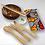 kit déjeuner Zéro Déchet Set couverts en bois écolo et efficaces