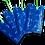 Etiquette bagage publicitaire  écologique en sac de riz recyclé bleu personnalisable avec logo | Lygo.fr