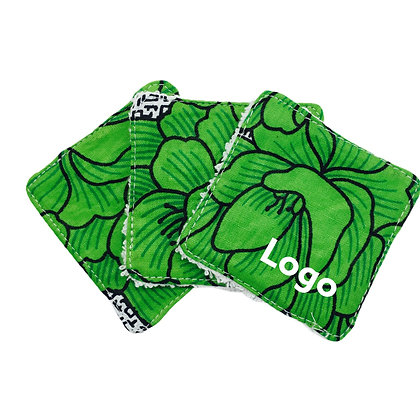 Lingette réutilisable personnalisable avec logo en coton fabriquée équitablement  un goodies écolo | Lygo.fr