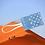 Etiquette bagage publicitaire en voile de coton mauritanien Bleu