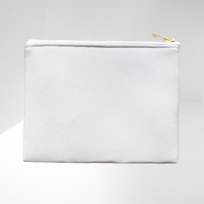 Trousse cosmétique publicitaire minimaliste fermeture plate