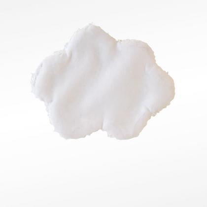 lingettes démaquillantes personnalisées forme nuage 🌧 blanche