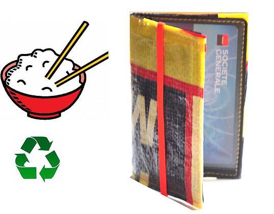 porte feuille sac de riz recyclé