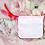Pochette à bijoux publicitaire personnalisé avec logo coton blanche