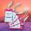 Etiquette bagage rose personnalisé écologique fabriquée à partir de sac de riz recyclé | Lygo.fr
