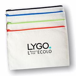 pochette basic fermeture eclaire couleur