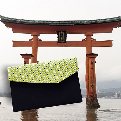 pochette de voyage publicitaire forme japonaise tissu coton japonais personnalisable