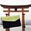 Pochette de voyage en coton tissu japonais artisanale sur mesure avec logo