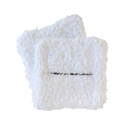 Lingette lavable en 100% éponge bio personnalisable blanche avec logo