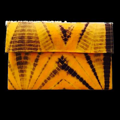Pochette de voyage publicitaire en voile mauritanien artisanal jaune   Lygo.fr