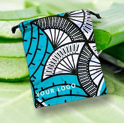 Pochettes en coton équitable avec cordon pour cosmétique, bijoux, cadeau Lavande |