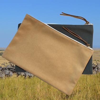 pochette de voyage en coton personnalisable avec fermeture éclaire pour agence de voyage