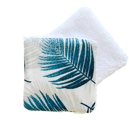 Lingette lavable personnalisable tissu fantaisie plume