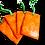 Etiquette à bagage publicitaire personnalisable écologique en sac de riz orange recyclé avec logo | Lygo.fr