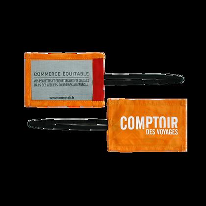 étiquette bagage publicitaire en coton équitable et écologique pas cher   Lygo.fr