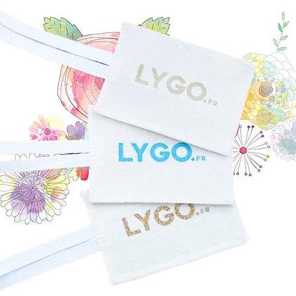 Etiquettes bagages personnalisé en coton pas chère fabrication équitable ethique | Lygo.fr