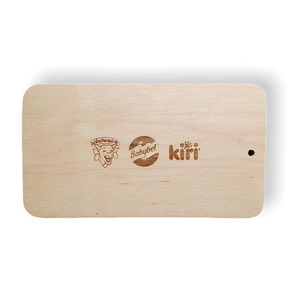 Planche à découper publicitaire en bois personnalisée