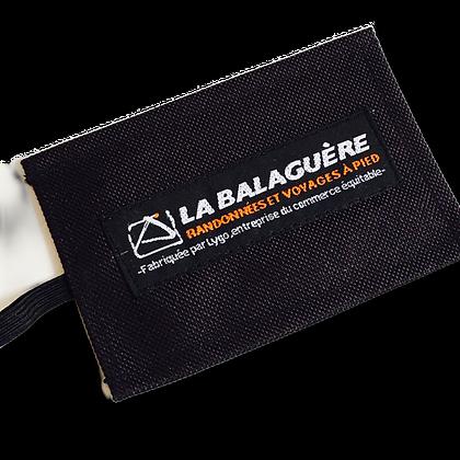 Etiquette à bagage personnalisable en bâche recyclée textile et étiquette tissée | Lygo.fr