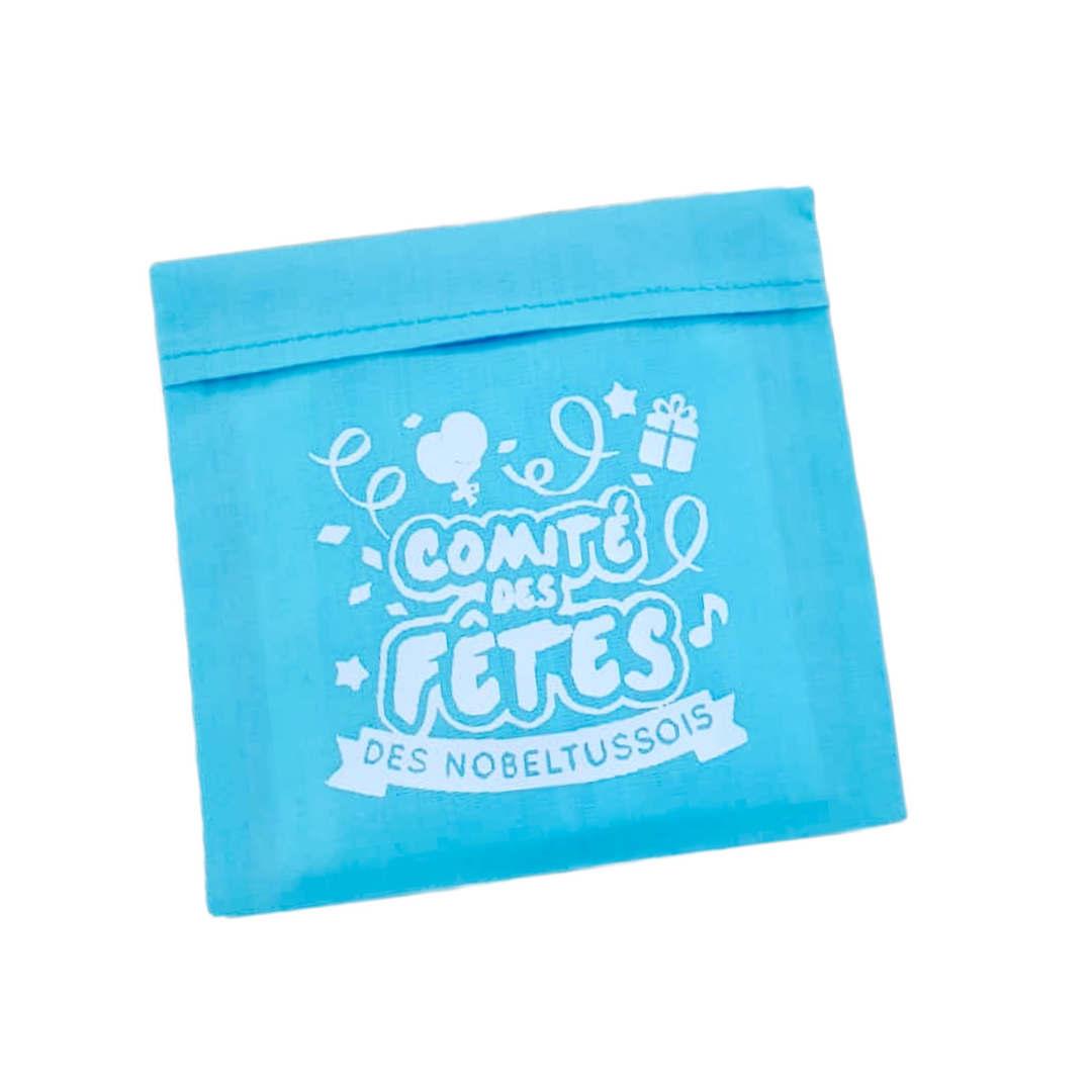 pochette en coton pour masques covid avec logo
