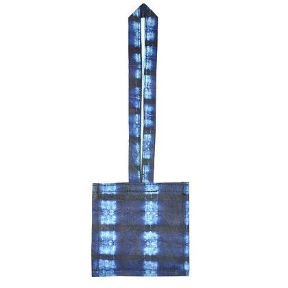 étiquette bagage personnalisé carrée en Indigo fabrication équitable